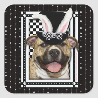 Easter - Some Bunny Loves You - Pitbull Square Sticker