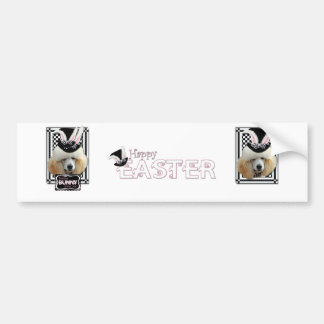 Easter - Some Bunny Loves You - Poodle - Chocolate Bumper Sticker