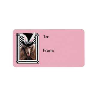 Easter - Some Bunny Loves You - Poodle - Chocolate Label