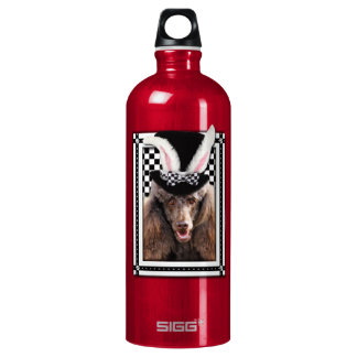 Easter - Some Bunny Loves You - Poodle - Chocolate Water Bottle