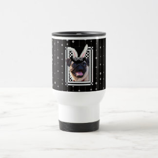 Easter  - Some Bunny Loves You - Pug 15 Oz Stainless Steel Travel Mug
