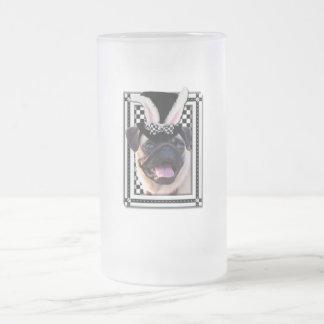 Easter - Some Bunny Loves You - Pug 16 Oz Frosted Glass Beer Mug