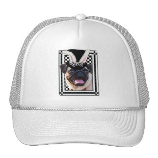 Easter - Some Bunny Loves You - Pug Trucker Hat