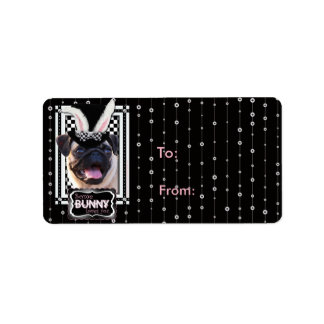 Easter - Some Bunny Loves You - Pug Personalized Address Labels