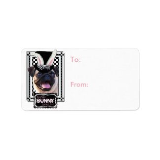 Easter - Some Bunny Loves You - Pug Label