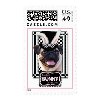 Easter - Some Bunny Loves You - Pug Stamp
