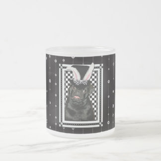 Easter - Some Bunny Loves You - Pug Ruffy 10 Oz Frosted Glass Coffee Mug