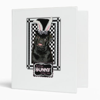 Easter - Some Bunny Loves You - Pug Ruffy 3 Ring Binders