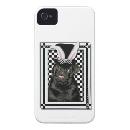 Easter - Some Bunny Loves You - Pug Ruffy iPhone 4 Covers