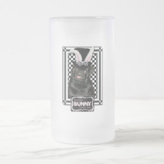 Easter - Some Bunny Loves You - Pug Ruffy Frosted Glass Beer Mug