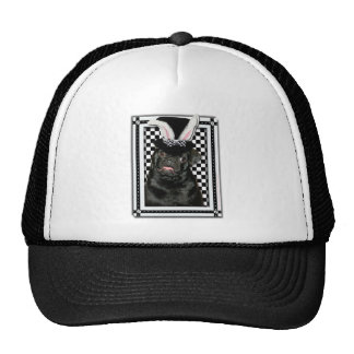 Easter - Some Bunny Loves You - Pug Ruffy Trucker Hat