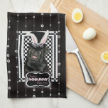 Easter - Some Bunny Loves You - Pug Ruffy Kitchen Towels