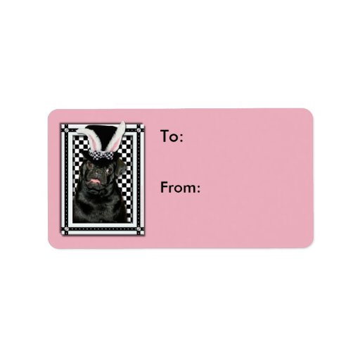 Easter - Some Bunny Loves You - Pug Ruffy Custom Address Labels