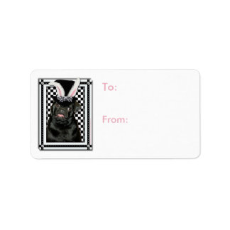 Easter - Some Bunny Loves You - Pug Ruffy Label