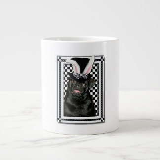 Easter - Some Bunny Loves You - Pug Ruffy Large Coffee Mug