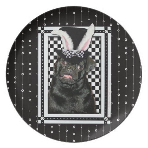 Easter - Some Bunny Loves You - Pug Ruffy Dinner Plate