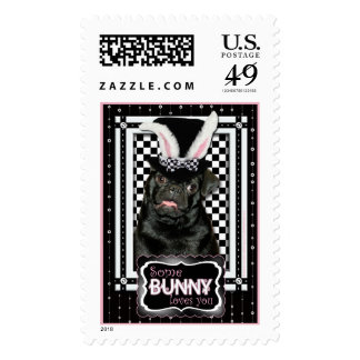 Easter - Some Bunny Loves You - Pug Ruffy Stamp