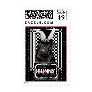 Easter - Some Bunny Loves You - Pug Ruffy Postage Stamp