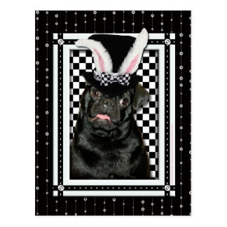 Easter - Some Bunny Loves You - Pug Ruffy Postcard