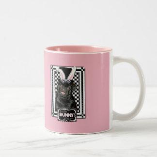 Easter - Some Bunny Loves You - Pug Ruffy Two-Tone Coffee Mug