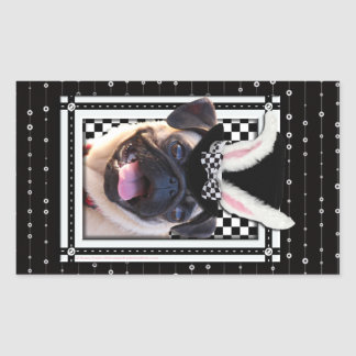 Easter  - Some Bunny Loves You - Pug Rectangular Stickers