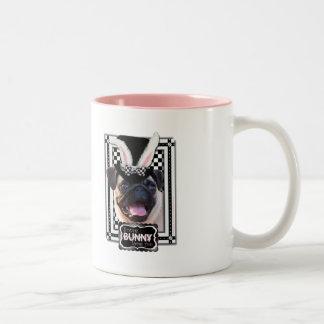 Easter - Some Bunny Loves You - Pug Two-Tone Coffee Mug