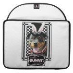 Easter - Some Bunny Loves You - Rottweiler Sleeve For MacBook Pro