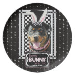 Easter - Some Bunny Loves You - Rottweiler Party Plate