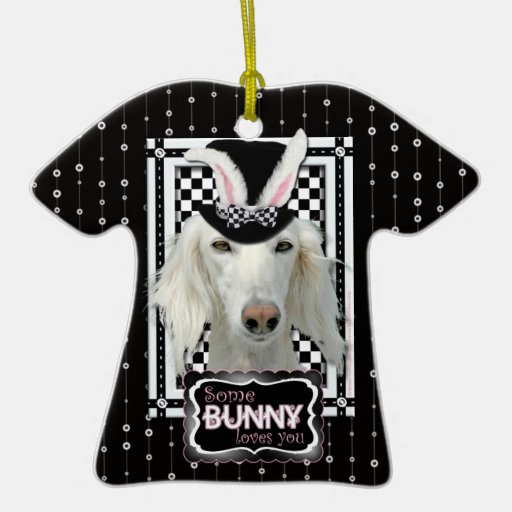 Easter - Some Bunny Loves You - Saluki Christmas Ornament