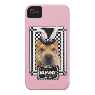 Easter - Some Bunny Loves You - Shar Pei iPhone 4 Case-Mate Case