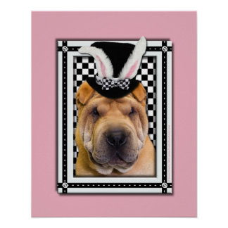 Easter - Some Bunny Loves You - Shar Pei Posters