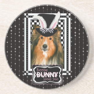 Easter - Some Bunny Loves You - Sheltie Drink Coasters