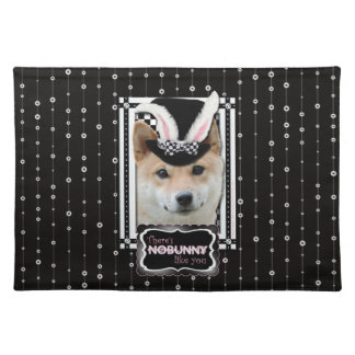 Easter - Some Bunny Loves You - Shiba Inu Cloth Placemat