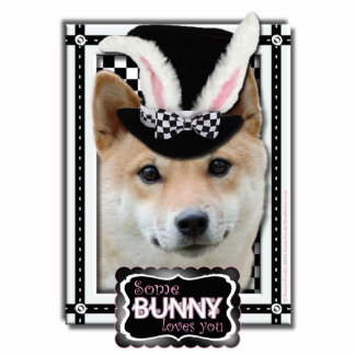 Easter Some Bunny Loves You - Shiba Inu Photo Cut Out
