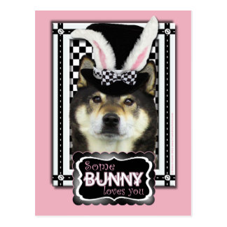 Easter - Some Bunny Loves You - Shiba Inu Yasha Postcard