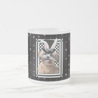 Easter - Some Bunny Loves You - ShihPoo Frosted Glass Coffee Mug