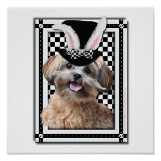 Easter - Some Bunny Loves You - ShihPoo Print