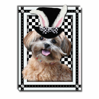 Easter - Some Bunny Loves You - ShihPoo Standing Photo Sculpture