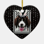Easter - Some Bunny Loves You - Springer Spaniel Christmas Tree Ornaments