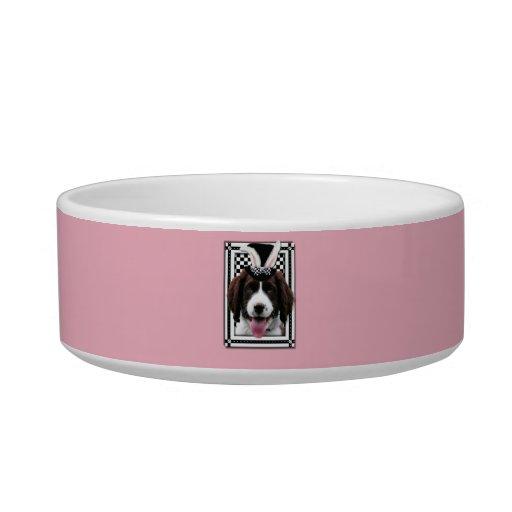 Easter - Some Bunny Loves You - Springer Spaniel Cat Food Bowls