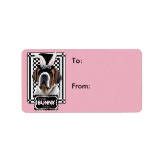 Easter - Some Bunny Loves You - St Bernard Label