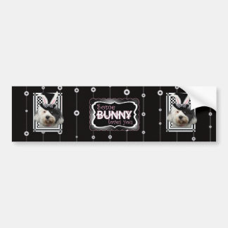 Easter - Some Bunny Loves You - Tibetan Terrier Bumper Stickers