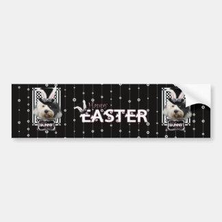 Easter - Some Bunny Loves You - Tibetan Terrier Bumper Sticker
