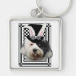 Easter - Some Bunny Loves You - Tibetan Terrier Key Chain