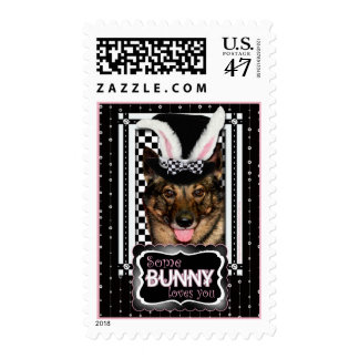 Easter - Some Bunny Loves You - Vallhund Postage