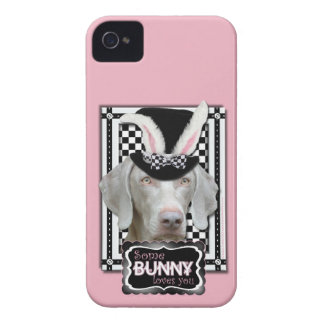 Easter - Some Bunny Loves You - Weimaraner iPhone 4 Case-Mate Cases