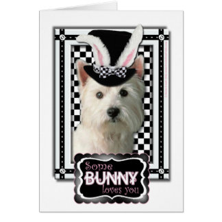 Easter - Some Bunny Loves You - Westie Card