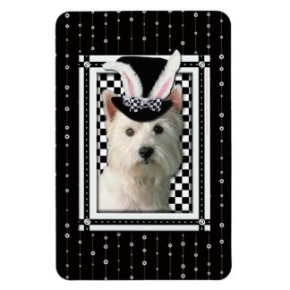Easter - Some Bunny Loves You - Westie Rectangular Photo Magnet