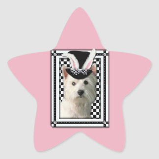Easter - Some Bunny Loves You - Westie Star Sticker