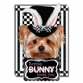 Easter - Some Bunny Loves You - Yorkie Cutout